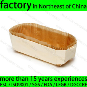 Disposable Wooden Baking Pan for Cake Bread Bakery pictures & photos