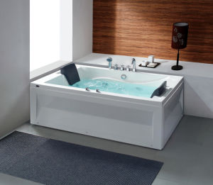 Freestanding Computer Control Whirlpool/Massage/SPA Acrylic Bathtub pictures & photos