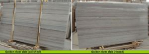 Beautiful Natural Stone Slabs Tiles Golden River Marble pictures & photos