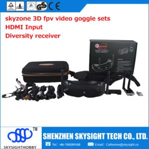 Sky02s 5.8g Wireless 40CH Aio 3D Fpv Video Glasses with Head-Tracing, HDMI in Function