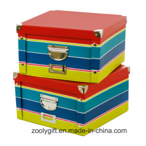 Classical Stripe Underwear Foldable Storage Paper Boxes pictures & photos