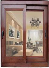 Wooden Color Aluminum Sliding Window/Red Sandal Window pictures & photos