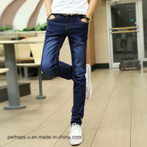 Wholesale High Quality Men′s Jeans Slim Stretch Cotton Pants pictures & photos