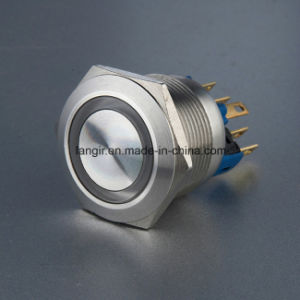 Langir 22mm Ring Illuminated Resetable 1no1nc Metal Push Buttons Switch (L22-F-M1-S-R) pictures & photos