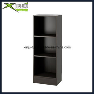 Black Simple 3 Tier Wooden Bookcase