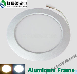 High Lumen 700lm 9W Aluminum Frame Round LED Panel Light with Quality SMD2835LEDs pictures & photos