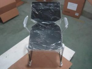 Hot Sale High Quality Stackable Steel Plastic Multi-Color Dining Chair pictures & photos