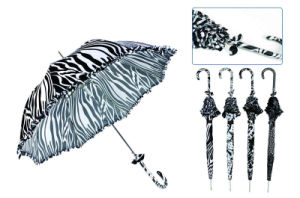 Black&White Designs Dome Lace Umbrella (YS-SA23083912R) pictures & photos