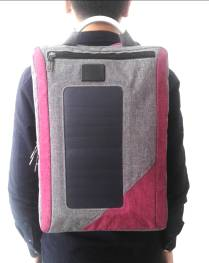 2016 New Solar Backpack with Solar Panel Charging Mobilephone 046