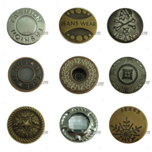 Vintage Brass Fix Metal Button for Jeans Denim pictures & photos
