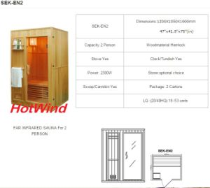 2016 Traditional Steam Sauna for 2 Person-En2 pictures & photos