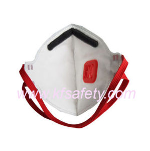 Ffp3 Particulate Flat Fold Dust Mask Respirator with Valve Manufacturer pictures & photos
