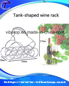 Hot Sale Tank Metal Wine Rack Kh-V25 pictures & photos