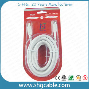 3c 2V Coaxial Cable with F TV Plug IEC Connectors pictures & photos