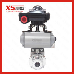 DC24V Pneumatic Actuator Tri Clamp Butterfly Valves pictures & photos