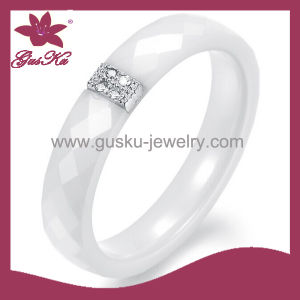 Silver Inlay Ceramic Ring (2015 Gus-Cmr-027)