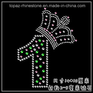 High Quality Iron on Hot Fix Rhinestone Motif Tshirt Heat Transfer (TM54 number) pictures & photos