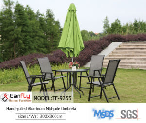 Big Aluminum Cheap Folding Umbrella with Base for Sale pictures & photos