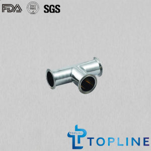 Sanitary Stainless Steel Tee with Tri Clamp Ends pictures & photos