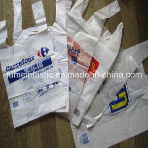 Custom Biodegradable Transparent PE Packaging Plastic Shopping T-Shirt Bag