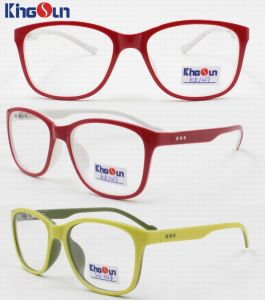Kid′s Double Colors Injection Optical with Spring Frames pictures & photos