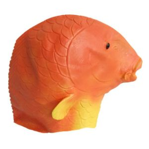 Latex Overhead Realistic Animal Aquatic Gold Fish Fancy Prop Carnival Party Mask pictures & photos