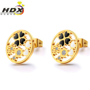 Stainless Steel Accessories Gift Earrings Fashion Jewelry Gold Stud Earrings (hdx1133) pictures & photos