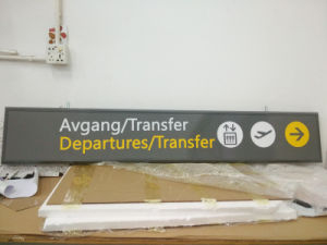 Airport Train Station Metro Indoor Aluminum Frame Acrylic LED Guide Directory Sign pictures & photos