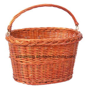 Willow Bike Baskets with Folded Handle (HBK-122) pictures & photos