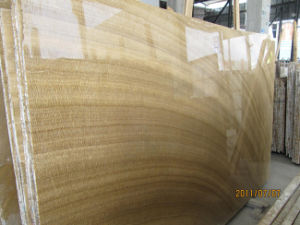 Yellow Wooden Marble, Marble Tile and Marble Slab pictures & photos
