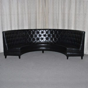 Commercial Black Leather Half Round Restaurant Booths (SP-KS323) pictures & photos