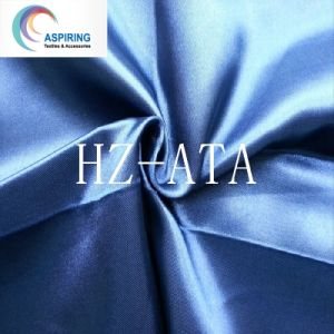 Poly Satin Fabric/75dx150d Satin Fabric pictures & photos