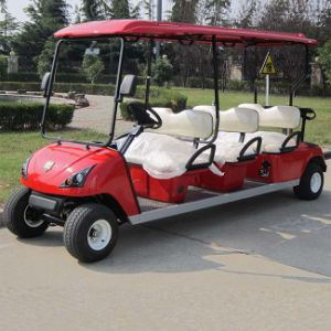 Red 6 Seats Electric Golf Sightseeing Cart (DG-C6) pictures & photos