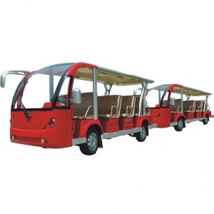 Electric Sightseeing Bus, Electric Shuttle Bus with Trailer, 29 Seats, Eg6158t with Eg6158t Trailer pictures & photos