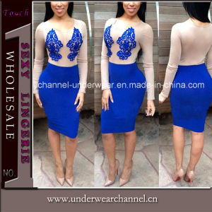 Sexy Women Backless Halter Prom Dress (TBLSN66117) pictures & photos