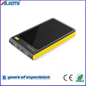 New Private 8000mAh Solar Power Bank with LED Light