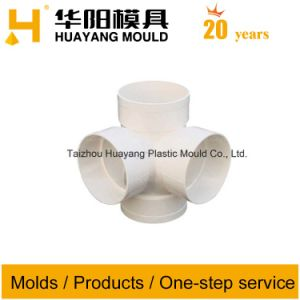 Plastic Four Way Pipe Fitting Mould (HY086) pictures & photos