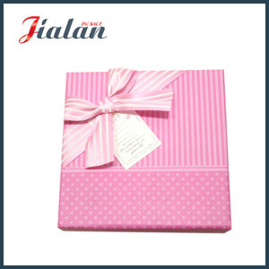 Lovely Pink Logo Printed Bow Tie Custom Cheap Paper Candy Box pictures & photos