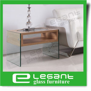 MDF Coffee Table with Oval Glass Top pictures & photos