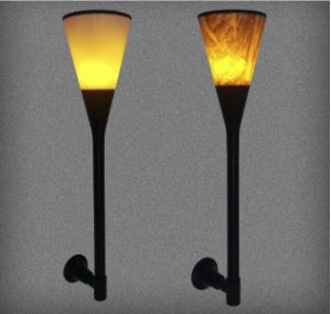 Solar Outdoor Landscape Courtyard Fire Flare Flare Flare Flare 96LED Street Lamp Lawn Garden Wall Lamp pictures & photos