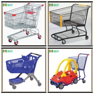 60-270liters Supermarket Metal Shopping Trolley pictures & photos