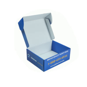 Glossy Color Printed Cheap Folded Corrugated Shipping Box pictures & photos