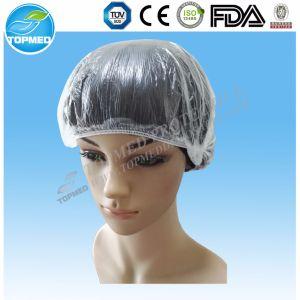 "Cheap PE Head Cover, Plastic Head Cover, 21"" Shower Cap pictures & photos"