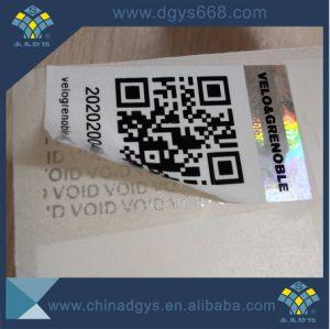 Custom Design Qr Code Tamper Evident Hologram Sticker Label pictures & photos