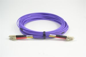 Om4 LC to LC Duplex Optical Fiber Patch Cord pictures & photos