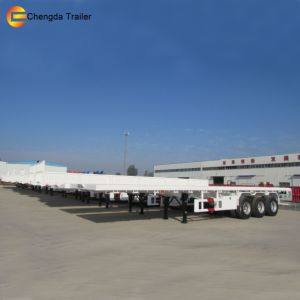 40FT Flat High Bed Container Semi Trailer for Sale pictures & photos