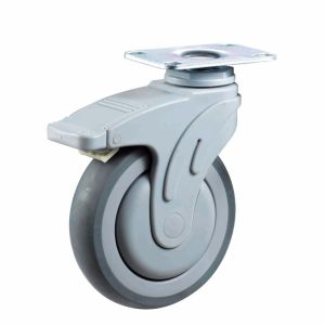 3/4/5 Inch Plate Type TPR Medical Swivel Caster pictures & photos