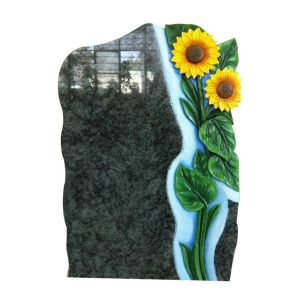 Haobo Wholesale Orion Blue Granite Tombstone with Antique Finish pictures & photos