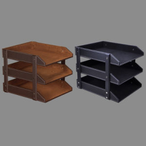 3 Tier Leather Documents File Tray pictures & photos