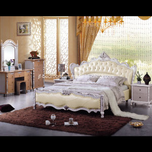 Popular Solid Wood Bedroom Set (V809) pictures & photos
